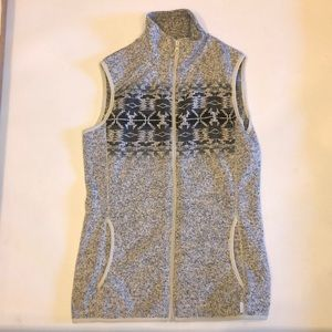 Eddie Bauer fleece vest women's xs tribal print